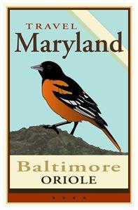 Travel Maryland - Vintage Travel by Kevin Brown Studio