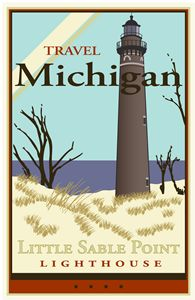 Travel Michigan - Vintage Travel by Kevin Brown Studio