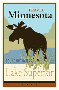 Travel Minnesota II - Vintage Travel by Kevin Brown Studio
