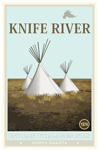 Knife River National Historic Site - Vintage Travel by Kevin Brown Studio