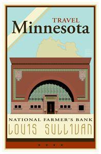Travel Minnesota I - Vintage Travel by Kevin Brown Studio