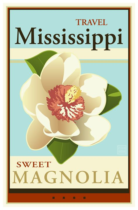 Travel Mississippi - Vintage Travel by Kevin Brown Studio