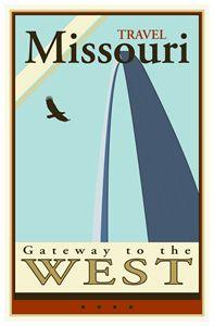 Travel Missouri - Vintage Travel by Kevin Brown Studio