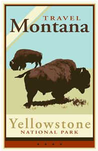 Travel Montana - Vintage Travel by Kevin Brown Studio