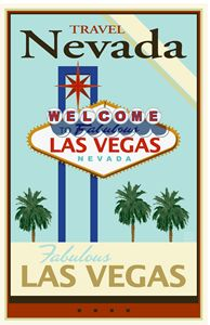 Travel Nevada - Vintage Travel by Kevin Brown Studio