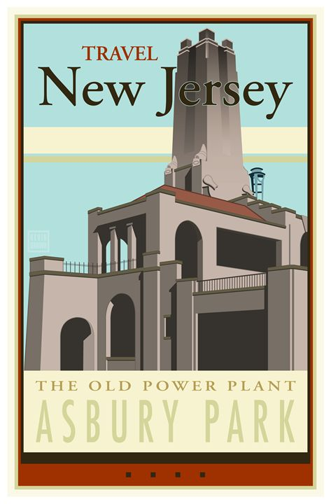 Travel New Jersey - Vintage Travel by Kevin Brown Studio