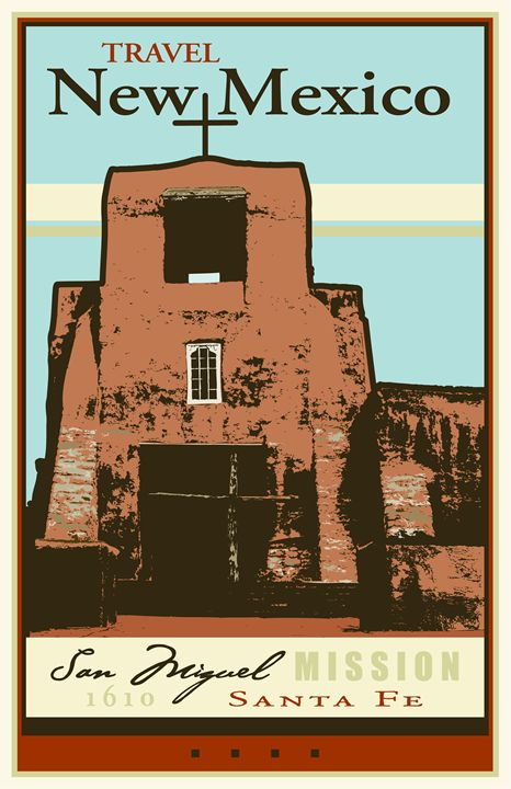 Travel New Mexico - Vintage Travel by Kevin Brown Studio