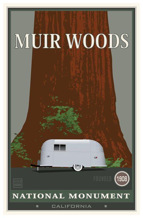 Muir Woods National Monument III - Vintage Travel by Kevin Brown Studio