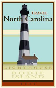 Travel North Carolina - Vintage Travel by Kevin Brown Studio