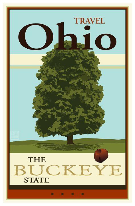Travel Ohio - Vintage Travel by Kevin Brown Studio