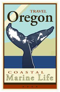 Travel Oregon - Vintage Travel by Kevin Brown Studio