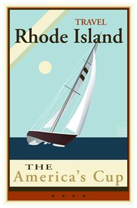 Rhode Island - Vintage Travel by Kevin Brown Studio