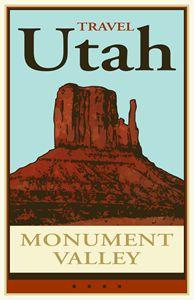 Travel Utah - Vintage Travel by Kevin Brown Studio