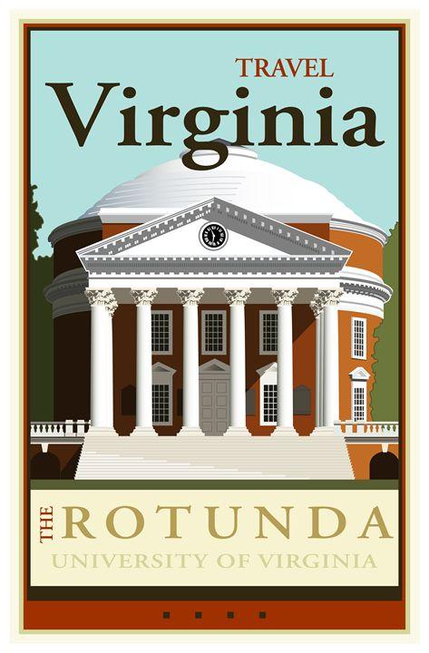 Travel Virginia - Vintage Travel by Kevin Brown Studio