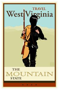 Travel West Virginia - Vintage Travel by Kevin Brown Studio