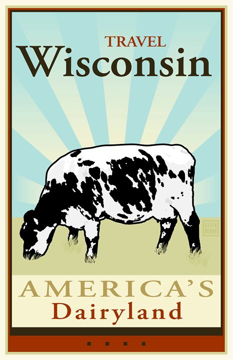 Travel Wisconsin - Vintage Travel by Kevin Brown Studio