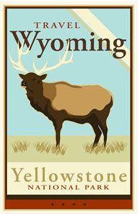 Travel Wyoming - Vintage Travel by Kevin Brown Studio