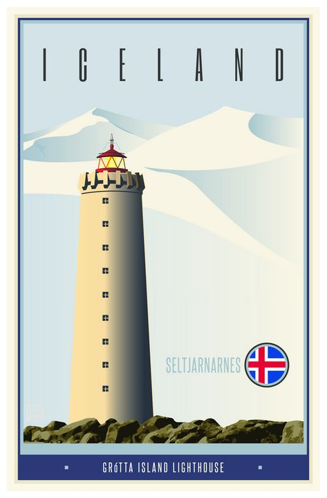 Iceland - Vintage Travel by Kevin Brown Studio