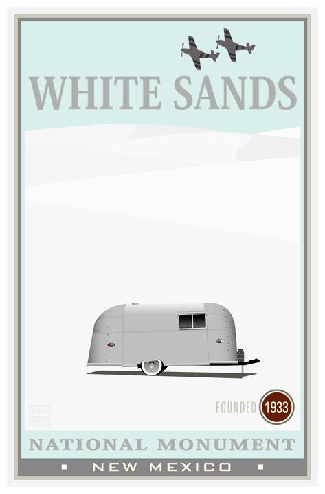 White Sands National Monument IV - Vintage Travel by Kevin Brown Studio