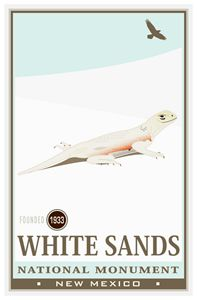White Sands National Monument III - Vintage Travel by Kevin Brown Studio