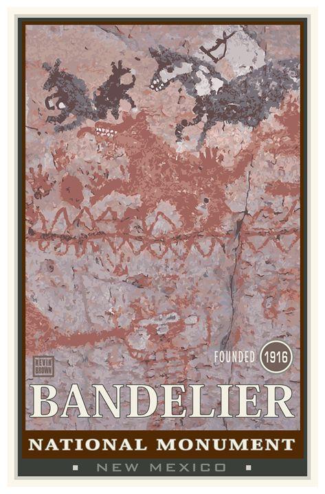 Bandelier National Monument II - Vintage Travel by Kevin Brown Studio