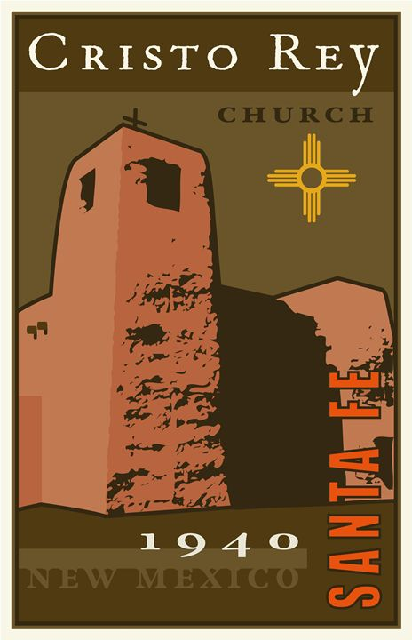 Cristo Rey - Vintage Travel by Kevin Brown Studio