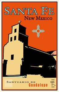 Santuario de Guadalupe - Vintage Travel by Kevin Brown Studio