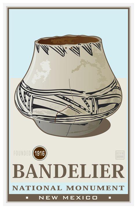 Bandelier National Monument I - Vintage Travel by Kevin Brown Studio