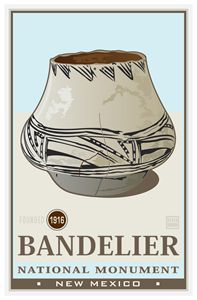 Bandelier National Monument I - Vintage Travel by Kevin Brown Studio