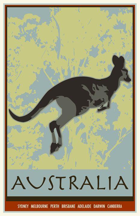 Australia I - Vintage Travel by Kevin Brown Studio