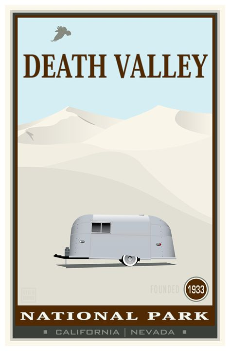 Death Valley National Monument IV - Vintage Travel by Kevin Brown Studio