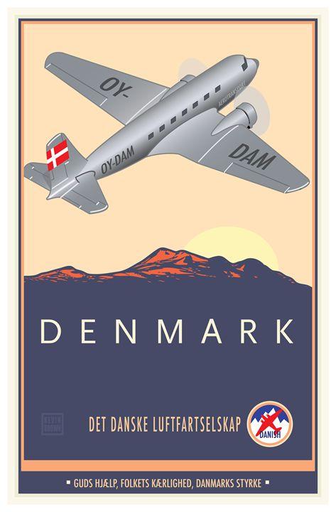 Denmark - Vintage Travel by Kevin Brown Studio
