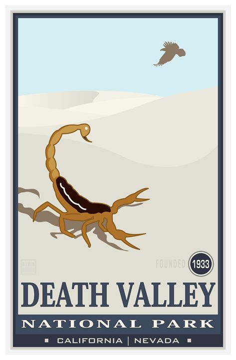 Death Valley National Monument III - Vintage Travel by Kevin Brown Studio