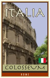Italy - Vintage Travel by Kevin Brown Studio