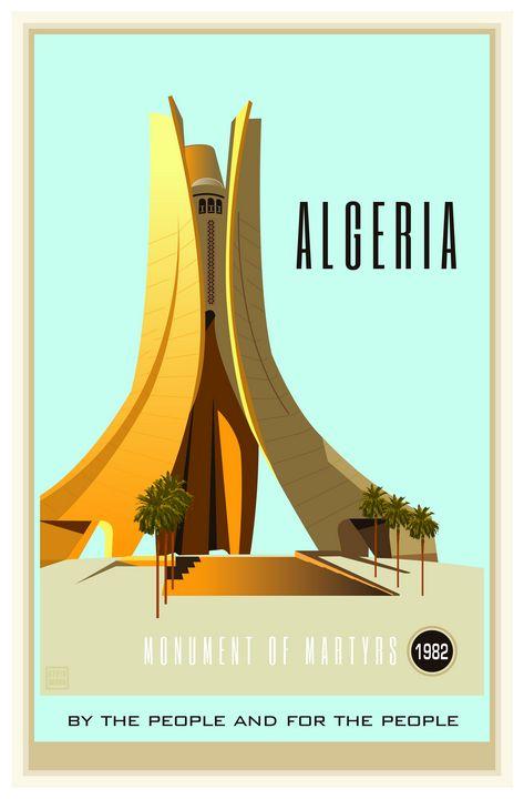 Algeria - Vintage Travel by Kevin Brown Studio