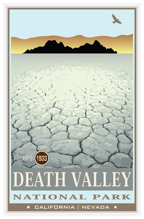 Death Valley National Monument II - Vintage Travel by Kevin Brown Studio