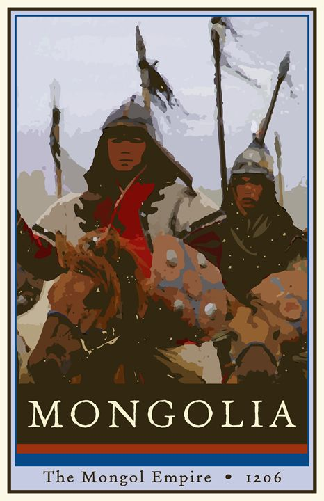 Mongolia - Vintage Travel by Kevin Brown Studio