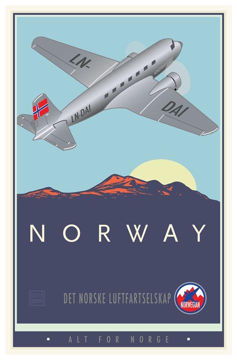 Norway - Vintage Travel by Kevin Brown Studio