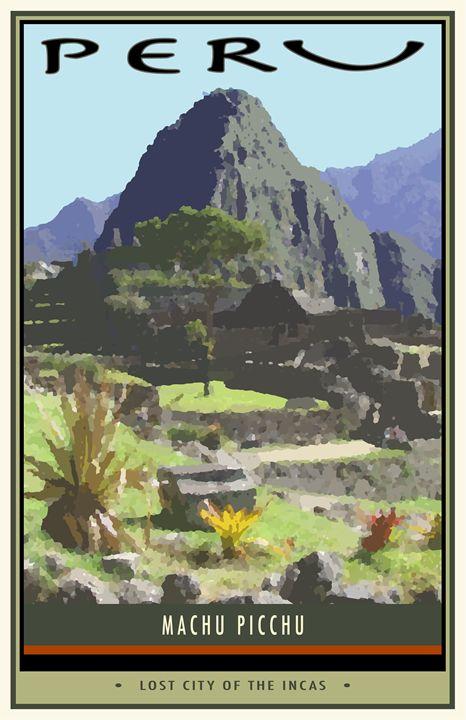 Peru - Vintage Travel by Kevin Brown Studio