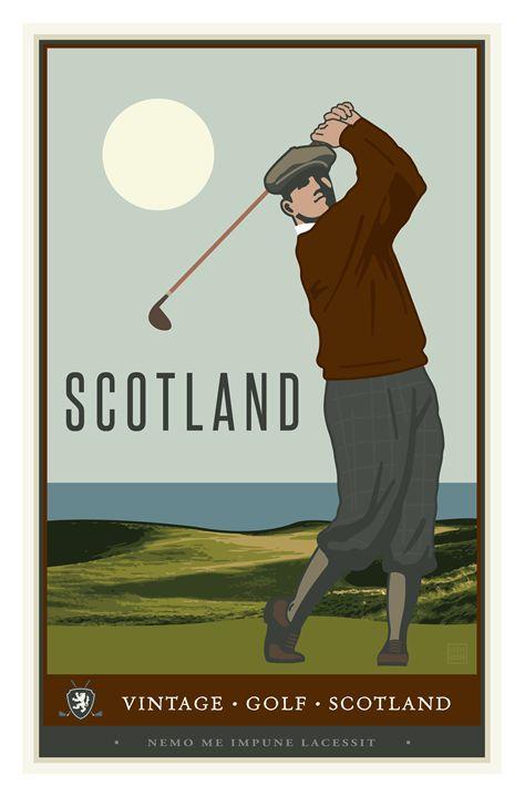 Scotland - Vintage Travel by Kevin Brown Studio
