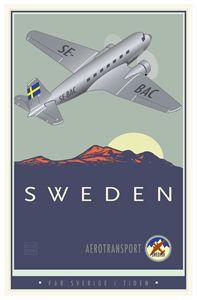 Sweden - Vintage Travel by Kevin Brown Studio
