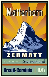 Matterhorn - Vintage Travel by Kevin Brown Studio