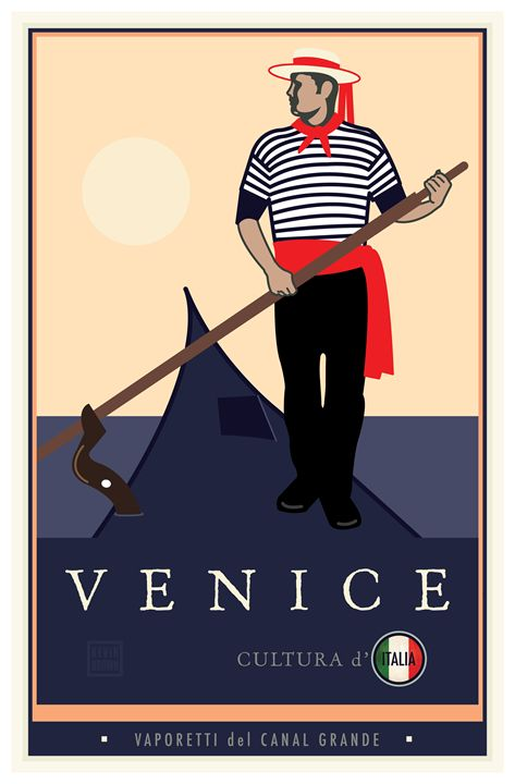 Venice, Italy - Vintage Travel by Kevin Brown Studio