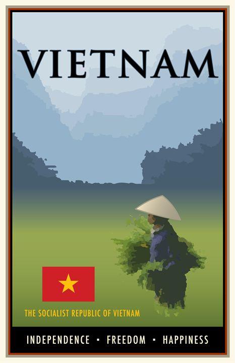 Vietnam - Vintage Travel by Kevin Brown Studio