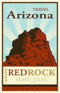 Travel Arizona - Vintage Travel by Kevin Brown Studio