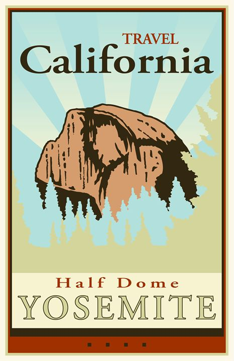 Travel California I - Vintage Travel by Kevin Brown Studio