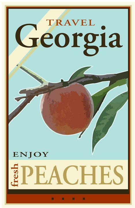 Travel Georgia - Vintage Travel by Kevin Brown Studio