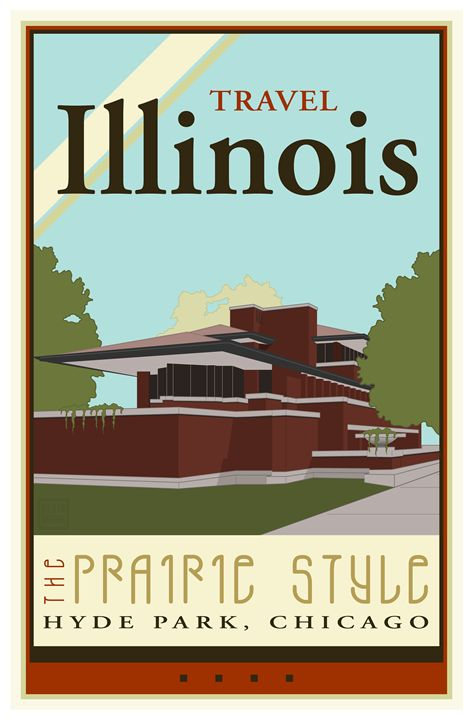 Travel Illinois - Vintage Travel by Kevin Brown Studio