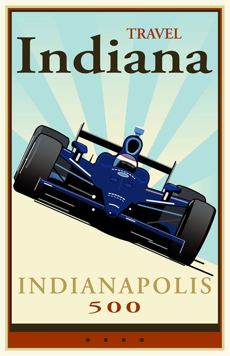 Travel Indiana - Vintage Travel by Kevin Brown Studio