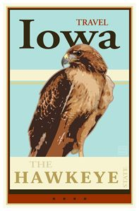 Travel Iowa - Vintage Travel by Kevin Brown Studio